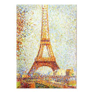 """Seurat: La torre Eiffel Invitación 5"""" X 7"""""""