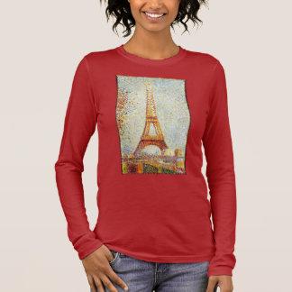 Seurat: La torre Eiffel Playera De Manga Larga