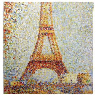 Seurat: La torre Eiffel Servilletas De Papel