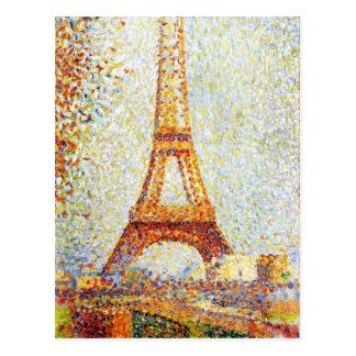 Seurat: La torre Eiffel Tarjetas Postales