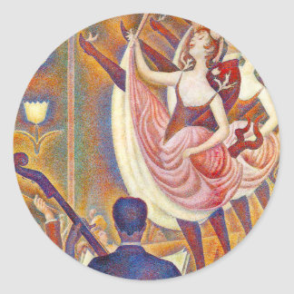 Seurat Le Chahut Stickers Pegatinas Redondas