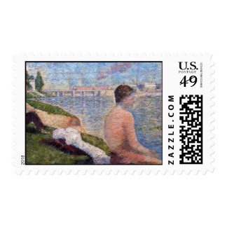 Seurat Painting Postage