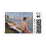 Seurat Painting Postage Stamp