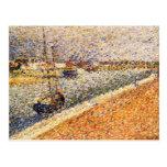 Seurat Painting Postcard