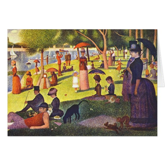 Seurat Painting Sunday Afternoon Card