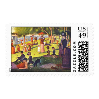 Seurat Painting Sunday Afternoon Stamps