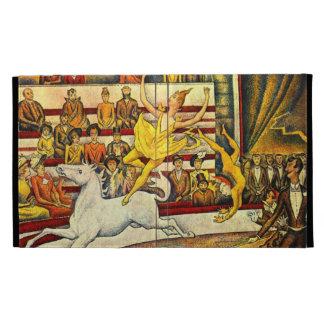 seurat Painting - The Circus iPad Folio Case