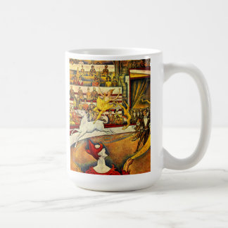 seurat Painting - The Circus Coffee Mug
