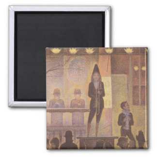 Seurat Painting - The Circus Parade 2 Inch Square Magnet