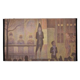 Seurat Painting - The Circus Parade iPad Cases