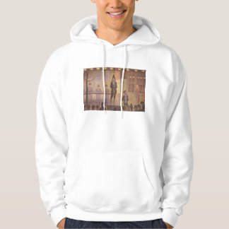Seurat Painting - The Circus Parade Hooded Pullover