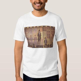 Seurat Painting - The Circus Parade Tee Shirt