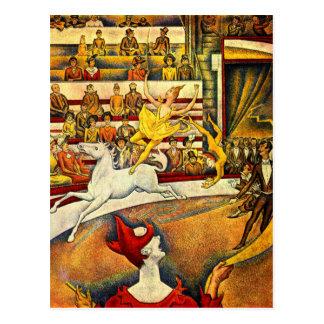 seurat Painting - The Circus Postcard