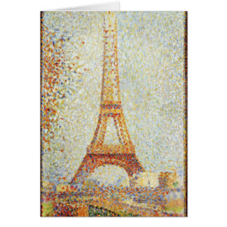 Seurat Painting The Effiel Tower Card