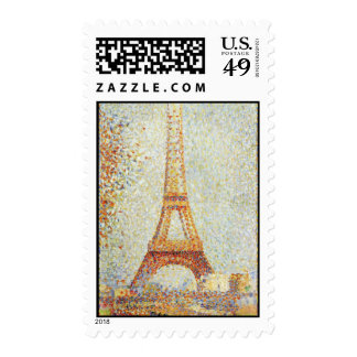 Seurat Painting The Effiel Tower Stamps