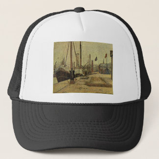 Seurat Painting The Maria Trucker Hat