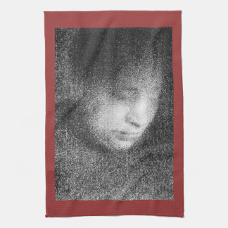 Seurat s mother by Georges Seurat Hand Towels