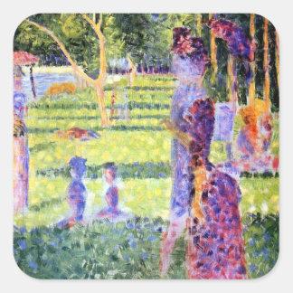 Seurat: The Couple Square Sticker