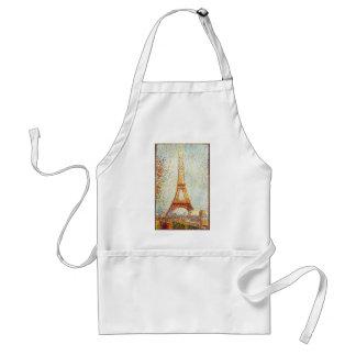 Seurat: The Eiffel Tower Adult Apron