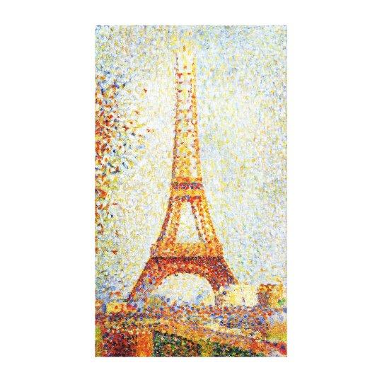 Seurat: The Eiffel Tower Canvas Print