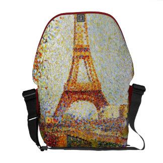Seurat: The Eiffel Tower Courier Bag
