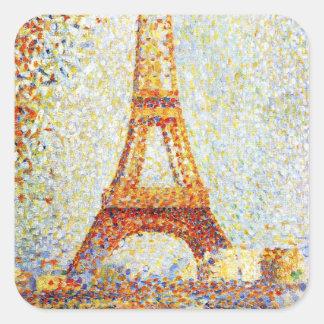 Seurat: The Eiffel Tower Square Sticker