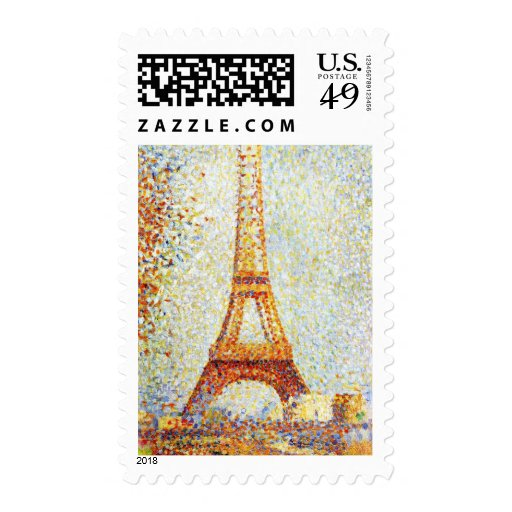 Seurat: The Eiffel Tower Stamp