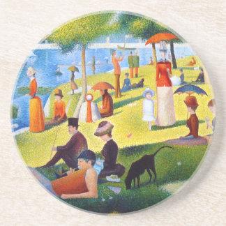 Seurat: Un domingo en el La grande Jatte Posavasos Manualidades