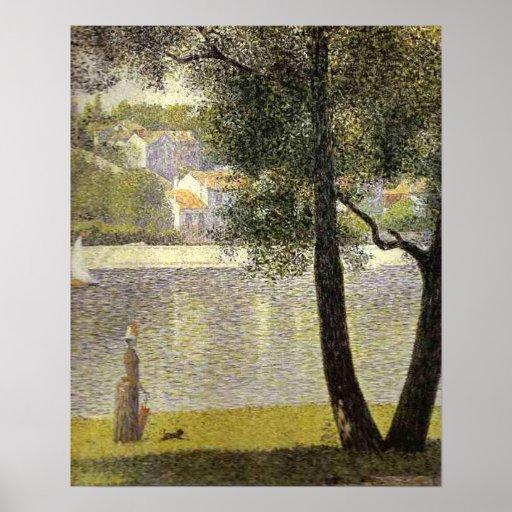 "Seurat's ""La Seine a Courbevoie"" Poster"