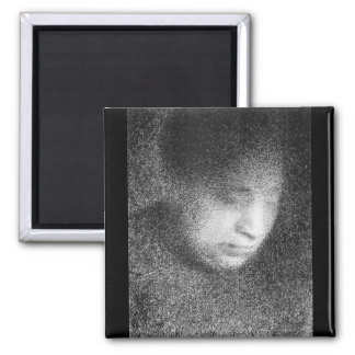 Seurat's mother by Georges Seurat 2 Inch Square Magnet