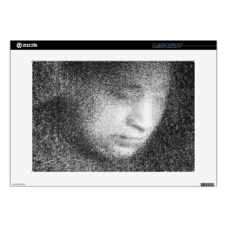 "Seurat's mother by Georges Seurat Decals For 15"" Laptops"