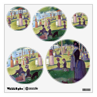 Seurat's Sunday Afternoon Collage Wall Sticker
