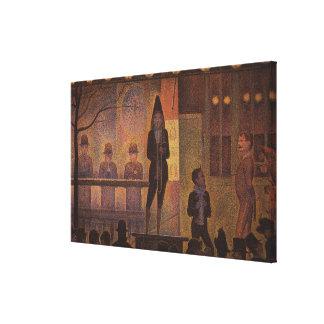Seurat's The Circus Sideshow (Parade de Cirque) Canvas Print