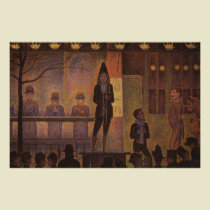 Georges Seurat's The Circus Sideshow