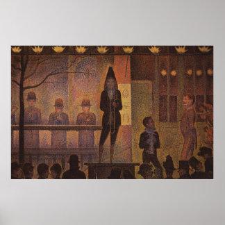 Seurat's The Circus Sideshow (Parade de Cirque) Poster