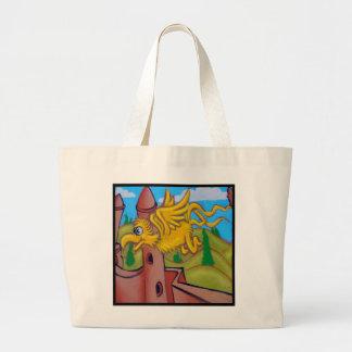 seusslike fling bird canvas bag