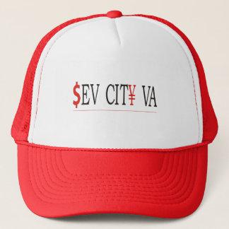 Sev City VA - Red Trucker Hat