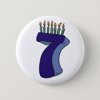 Seven 7th Birthday Gifts Button