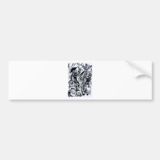 seven animals edited regional twine bumper sticker