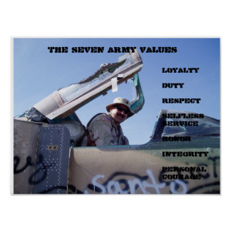 Seven Army Values Poster