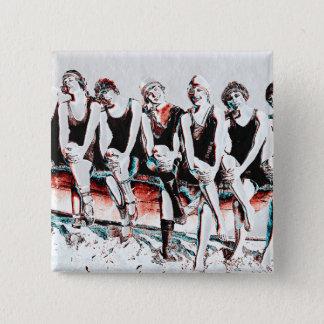 Seven Bathing Beauty Pals Pinback Button