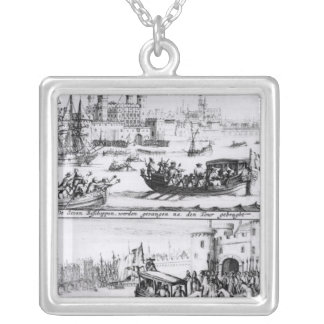 Seven Bishops Go to the Tower, 1688 Silver Plated Necklace