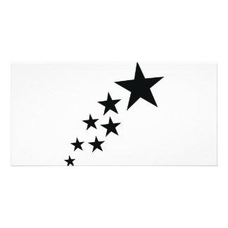 seven black stars icon card