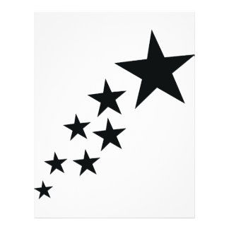 seven black stars icon flyer