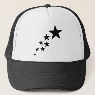 seven black stars icon trucker hat
