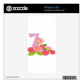Seven blooming flowers iPhone 4S skin
