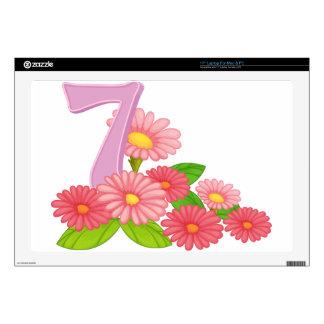 Seven blooming flowers laptop skin