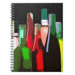 Seven Bottles of Wine Notebooks