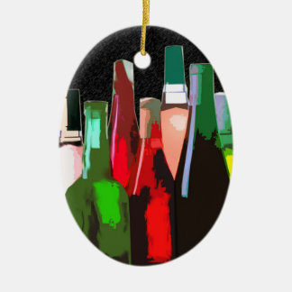 Seven Bottles of Wine on the Wall Christmas Ornament