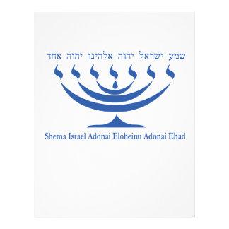 Seven branch menorah of Israel and Shema Israel Flyer